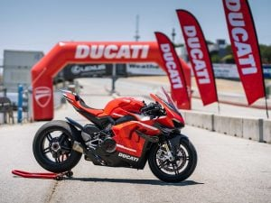 The Ducati Superleggera V4 in its red variation | Luxury Homes by Brittany Corporation
