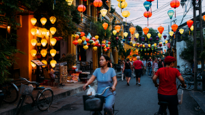 vietnam colorful streets with chinese lanterns in gloomy day as best retirement places | luxury homes by brittany corporation