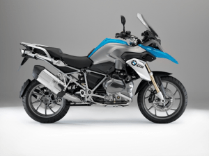 Blue and gray bmw hR1200GS | luxury homes by Brittany Corporation