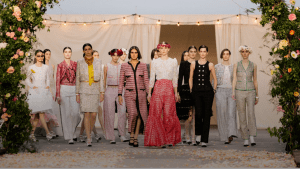 Spring Summer chanel collections colorful clothes with many women in different shades of red   luxury homes by Brittany Corporation