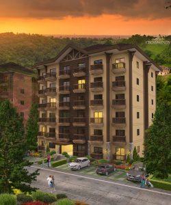 Alpine Villas Building Facade - Luxury Condominiums - Brittany Corporation Crosswinds Tagaytay