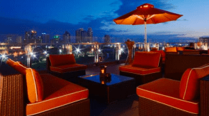 Dining at Sky Deck View Bar and sunset viewing - Brittany Corporation