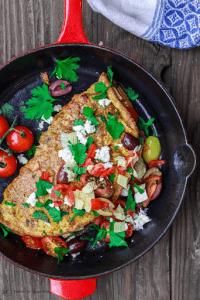 Loaded Vegetable Omelette