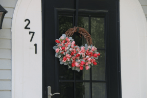 Photo of a lovely flower arrangement for a door wreath   Luxury homes by brittany corporation