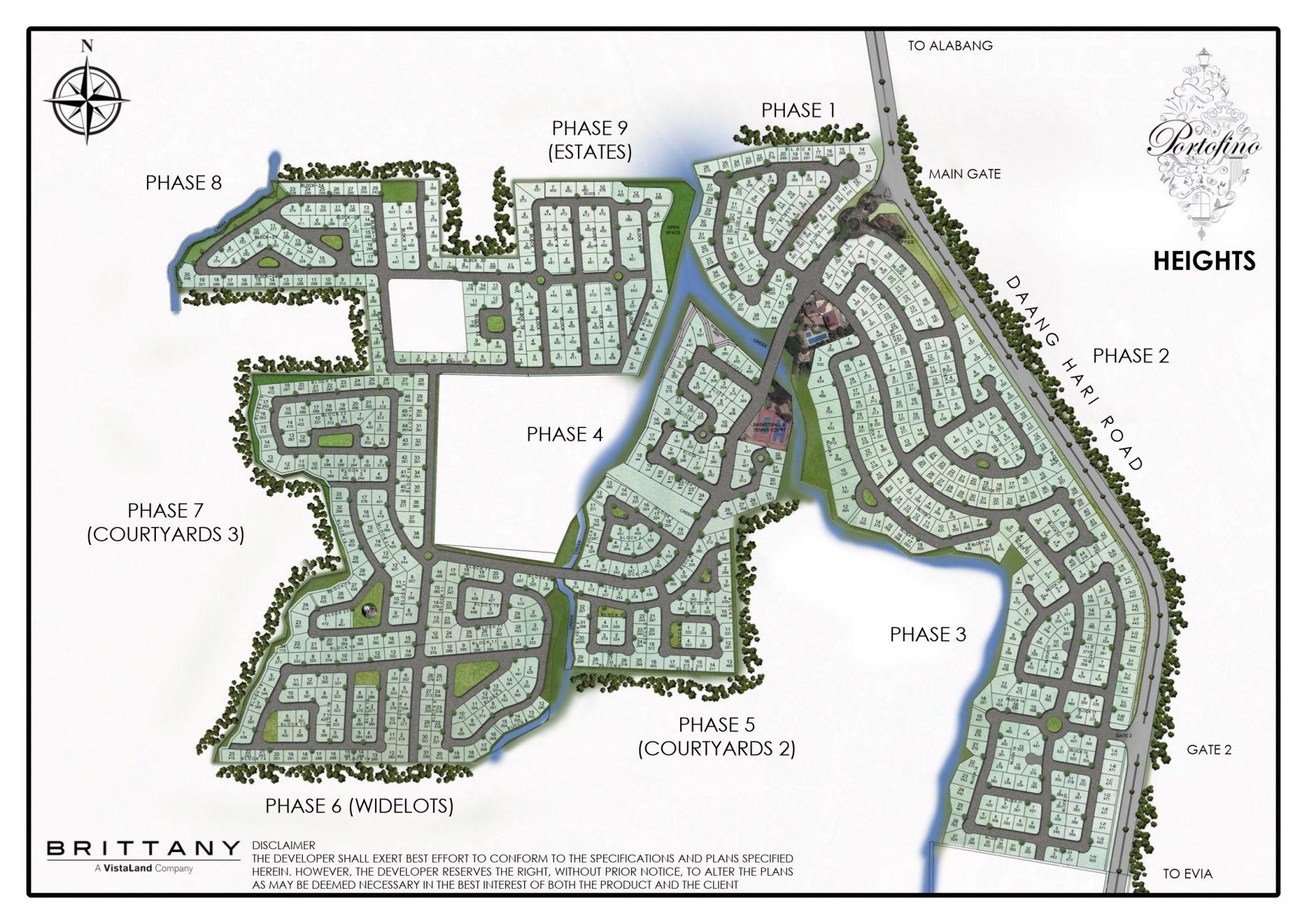 Portofino Heights - Site Development Plan - Master Plan Vista Alabang - Brittany Corporation