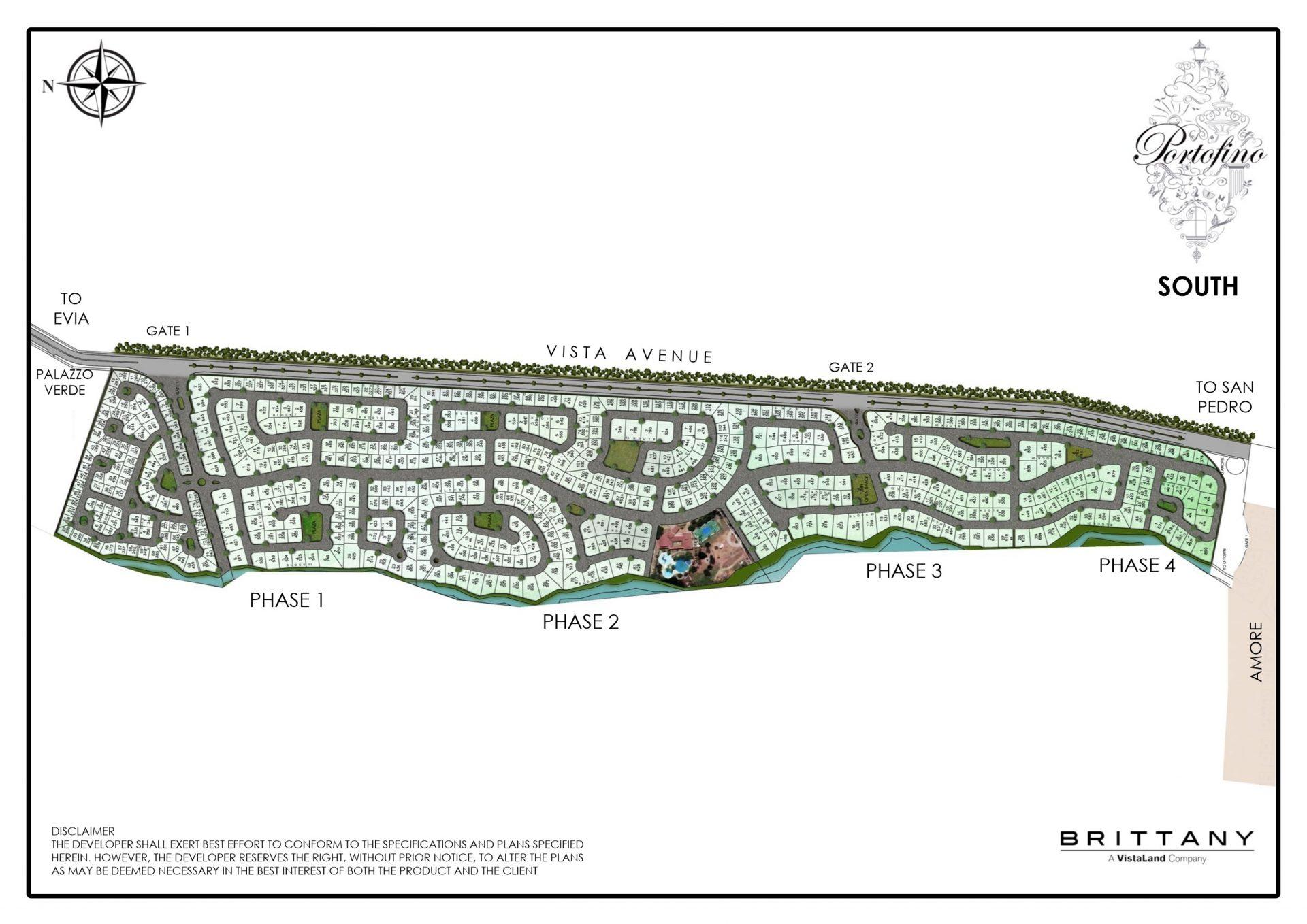 Portofino South - Portofino South Site Development Plan - Master Plan Vista Alabang - Brittany Corporation