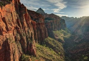Zion National Park cliff side beautiful luxurious views live in your luxury | Luxury Homes by Brittany Corporation
