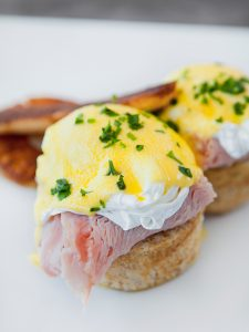 eggs benedict from breakfast at antonios restaurant close to crosswinds tagaytay | luxury homes by Brittany corporation