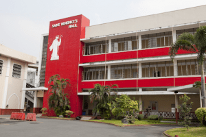 San beda university facade | Luxury homes by brittany corporation