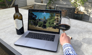 drinking wine while working | luxury homes by brittany corporation