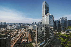 wallich residence singapore luxury condominium in the city surrounded by small luxury houses | Luxury Homes by Brittany Corporation